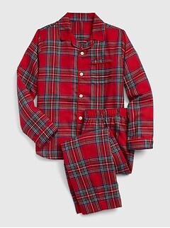 Kids Flannel Traditional PJ Set