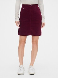 High Rise Velvet Mini Skirt