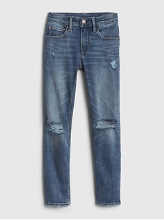 Kids Distressed Skinny Jeans with Max Stretch