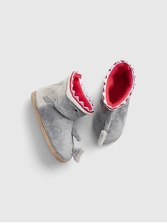 Kids Shark Slipper Booties
