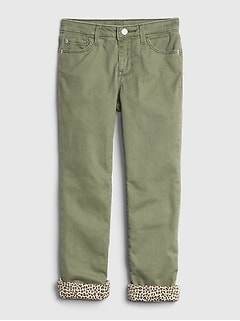 Kids Jersey-Lined Straight Jeans with Fantastiflex