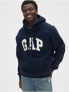 Gap Logo Sherpa Pullover Hoodie