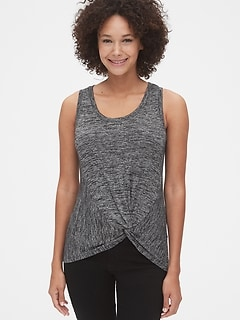 Softspun Twist-Front Tank Top