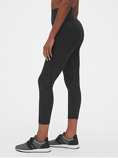 High Rise Perforated Spliced 7/8 Leggings in Sculpt Revolution