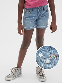 Kids Rainbow Midi Shorts