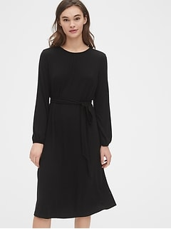 Tie-Waist Midi Dress in TENCEL™