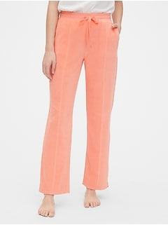 Velour Seamed Pants