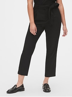 High Rise Tie-Waist Pants
