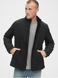 Sherpa-Lined Zip Jacket