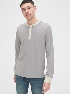 Vintage Soft Stripe Henley T-Shirt