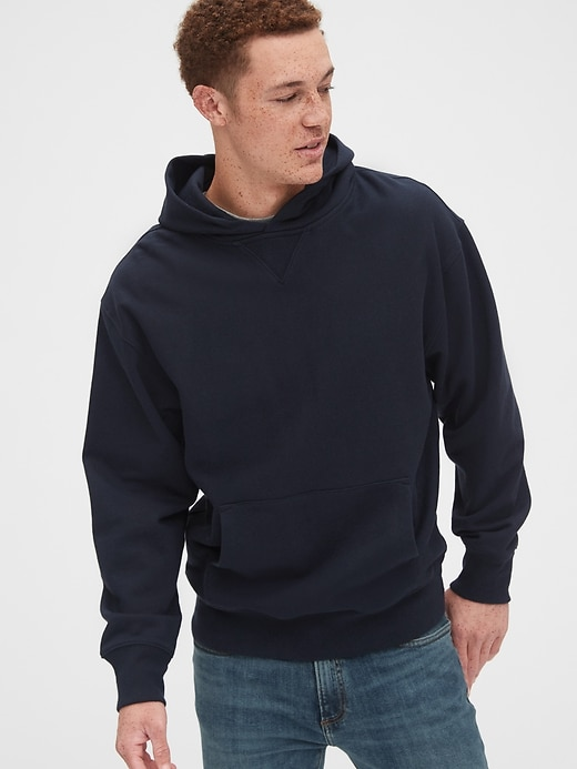 Gap Oversized Pullover Hoodie in French Terry