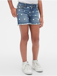 Kids Dot Midi Shorts with Stretch