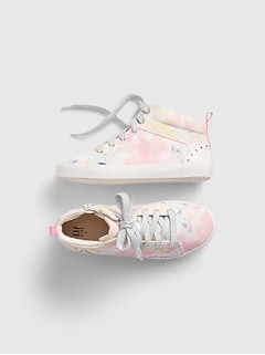 Kids Hi-Top Tie-Dye Sneakers