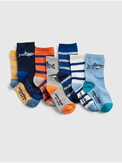 Toddler Shark Socks (7-Pack)