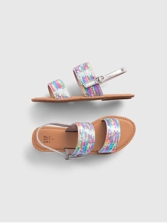 Kids Flippy Sequin Sandals