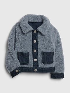 Toddler Reversible Sherpa Denim Jacket