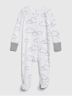 Baby Cloud Footed One-Piece