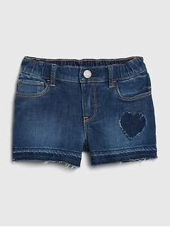 Toddler Heart Patch Shortie Shorts