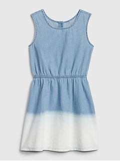 Kids Dipped Denim Dress
