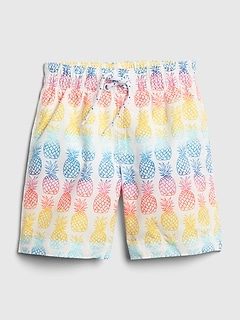 Toddler Pineapple Swim Trunks