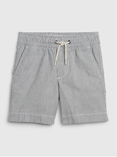 Toddler Railroad Stripe Pull-On Shorts