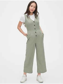 TENCEL™ Button-Front Jumpsuit