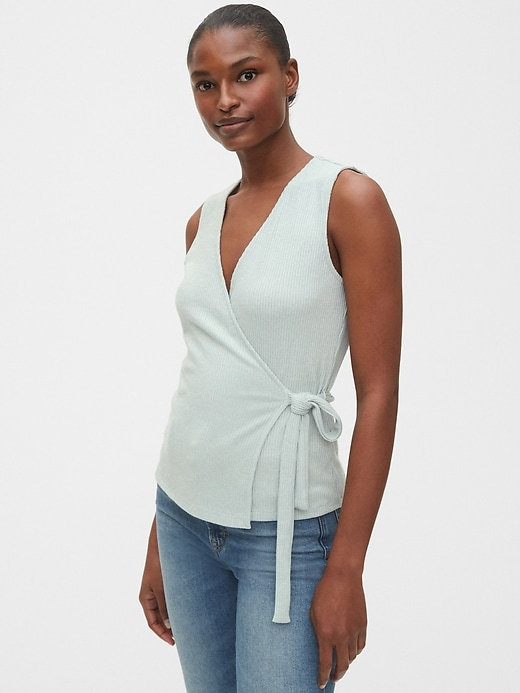 Softspun Fitted Wrap Top