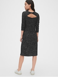 Softspun Twist-Back Midi Dress