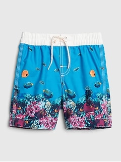 Toddler Fish Swim Trunks