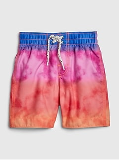 Toddler Tie-Dye Swim Trunks