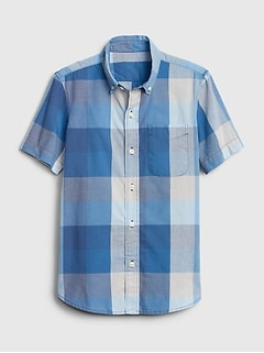 Kids Poplin Button-Up Shirt
