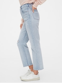 High Rise Curvy Cheeky Straight Jeans