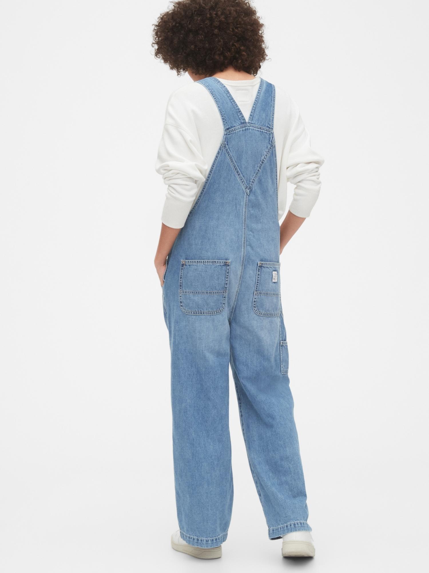 Blue size Medium  GAP overalls denim jeans