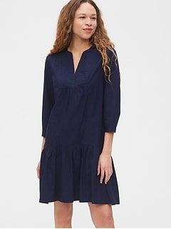 Trapeze Dress in Poplin