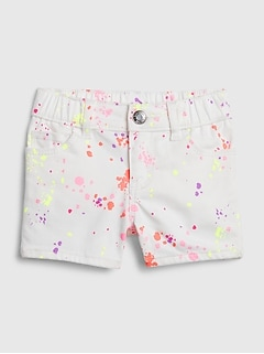 Toddler Splatter Paint Shortie Shorts