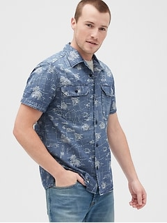 Camp Denim Short Sleeve Shirt