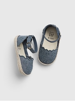 Baby Chambray Eyelet Espadrille Sandals