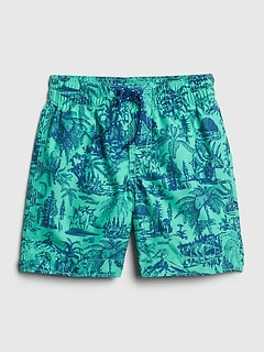 Toddler Dino Swim Trunks