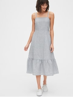 Ruffle Apron Midi Dress