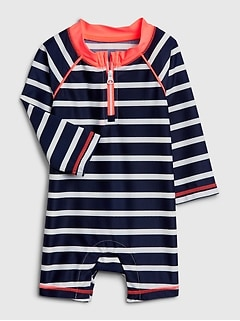 Baby Stripe Rashguard One-Piece