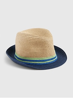 Toddler Straw Fedora