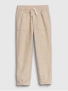 Toddler Slim Linen Pull-On Joggers