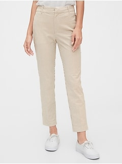 High Rise Slim Ankle Seersucker Pants