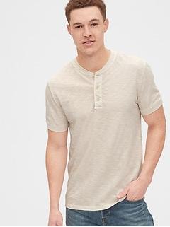 Soft Slub Henley T-Shirt