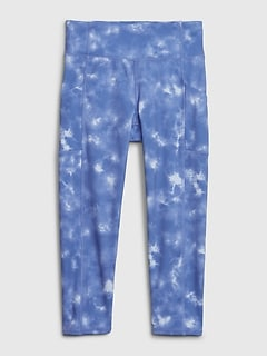 GapFit Kids Crop Tie-Dye Legging