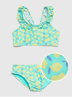 Kids Ruffle Lemon Swim Two-Piece