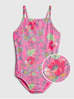Kids Floral Swim One-Piece
