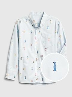 Kids Print Oxford Shirt