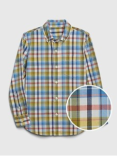 Kids Plaid Poplin Shirt