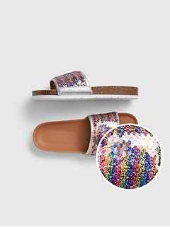 Kids Flippy Sequin Slides